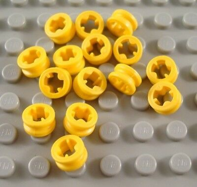 LEGO Lot of 15 Yellow Technic 1/2 Bush Connector Pieces