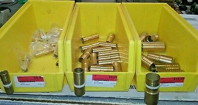 "Lot of 34 Insert x Sweat Brass Adapters - 1/2"" 3/4"" & 1"" NEW! NEVER USED!"