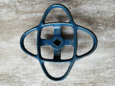 "Vtg Industrial Machine Age Water Valve Handles Steampunk Art 5-3/8"" Atomic"