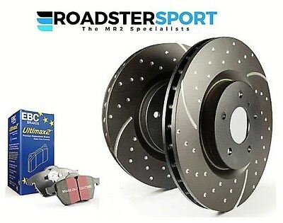 Toyota Mr2 Mk3 Roadster - Ebc Ultimax Brake Pads + Grooved Discs Front+Rear
