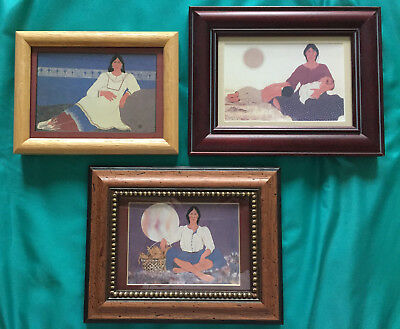 Jeanne Walker Rorex Native American. Set of Three Professionally Framed Prints.