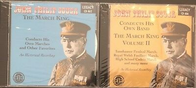 John Philip Sousa; The March King, Volumes I & II, Conducts His Own Band:  CDs