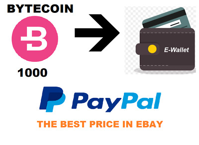[Best Price] 1000 Bytecoin  In Your E-Wallet Crypto