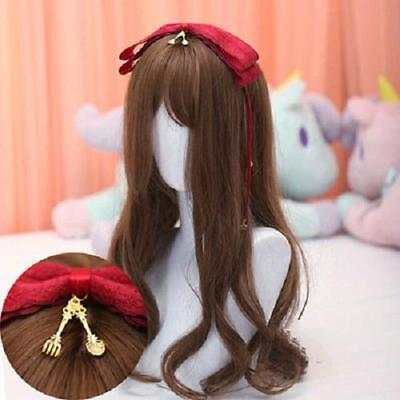 Headband Hairpin Accessories Lace Ribbon Bells Japanese Lovely Women Classical