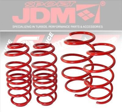 """For 84-87 Toyota Corolla Ae86 Trueno Red Lowering Spring Coil 1.5/"""" Drop Kit Set"""