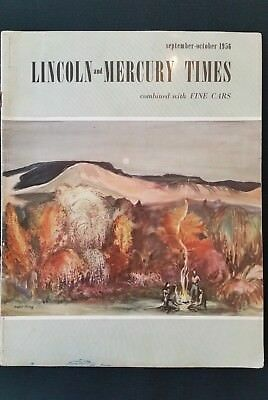Lincoln - Mercury Times Magazine September - October  1956