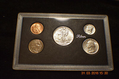 """1937-P (5) Coin Mint Year Set  """"uncirculated""""...........#1556"""