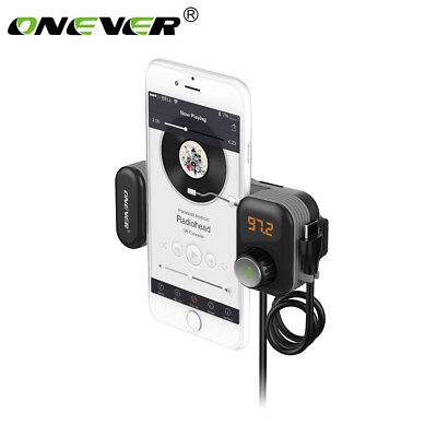 Bluetooth Car Kit FM Transmitter Radio MP3 Player USB Charger with Phone Holder