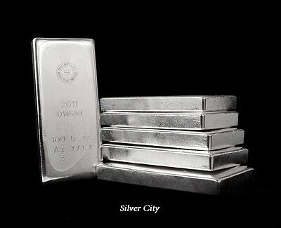 100 OUNCE ROYAL CANADIAN MINT .9999 FINE SILVER BAR 100oz. RCM