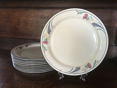 Lenox Poppies on Blue Chinastone Dinner Plate(s) - 10.75""