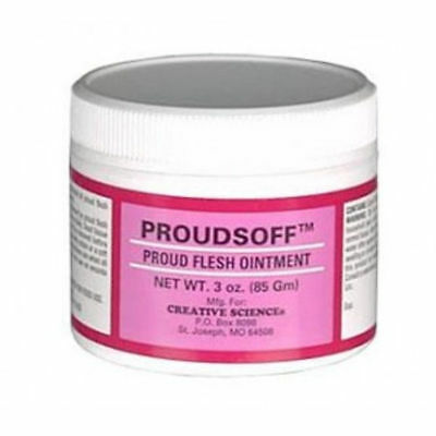 PROUDSOFF Ointment 3 oz Proud Flesh Cattle Horses Equine Sheep Health Tissue
