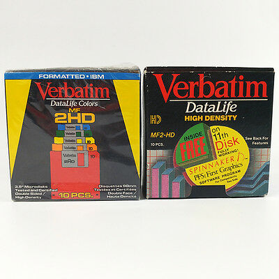 Verbatim DataLife MF-2HD High Density 2 Boxes IBM Formatted Floppy Diskettes