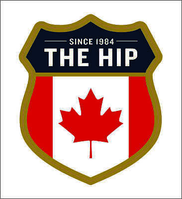 THE HIP 1984 road sign crest Gord Downie The Hip Tragically Hip sticker decal