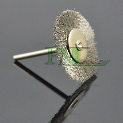 """10PC 40mm 1/8"""" Steel Wire Wheel Brushes Accessories For Rotary Tools 3mm Shank"""