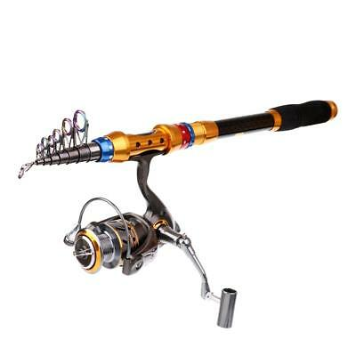 2.7m Telescopic Fishing Rod and Reel Combos Travel Spinning Reels Pole Kits