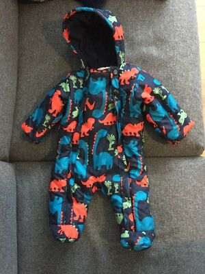 M&S Dinosaur Snow Suit 0-3 Months