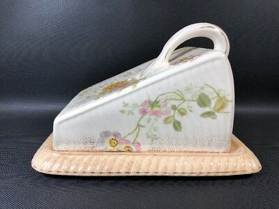 ANTIQUE ENGLISH PORCELAIN CHEESE DISH AND COVER. C1800's (c)