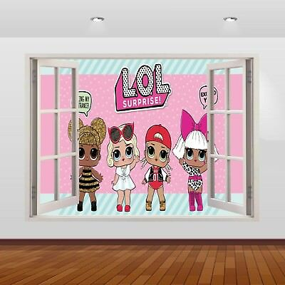 LOL Dolls Surprise Graphic 3D Window Stickers Poster Wall Decal Mural Art 808