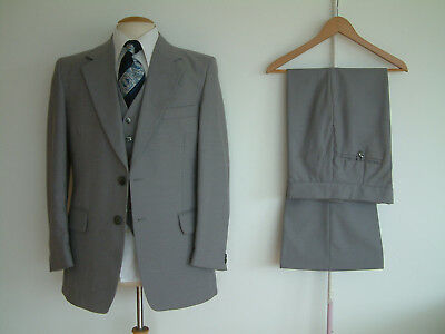 """1970's 3 PIECE SUIT..40"""" x 34""""..GIANT FLARES..DISCO..GLAMTASTIC 70's WEEK..1978"""
