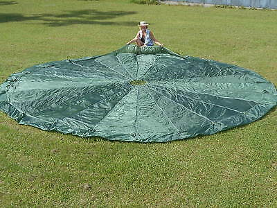Green T-10 Reserve Military Parachute Canopy