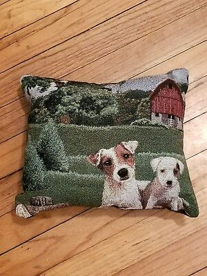 Jack Russell Parsons Terrier Dog tapestry pillow by Golden Horn Creations new