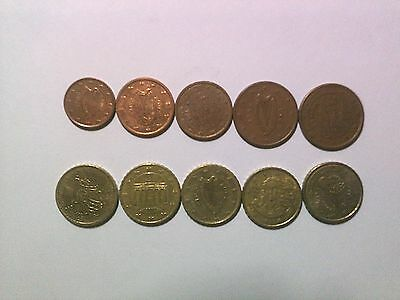 Lot of 10 Different Euro Type Coins - Circulated