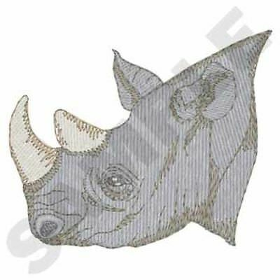 "Rhino, Rhinoceros Embroidered Patch 3"" x 2.5"""
