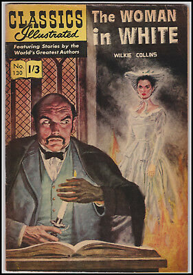Vintage British Classics Illustrated: WOMAN IN WHITE/WILKIE COLLINS No.130  1/3