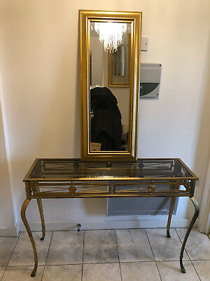 Classic antique sideboard including gold mirror in perfect condition