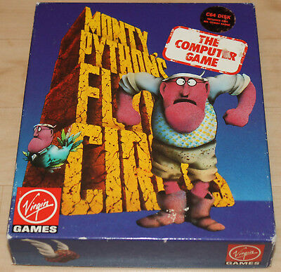 Virgin Monthy Phyton's Flying Circus Commodore 64 C64 Leerbox!