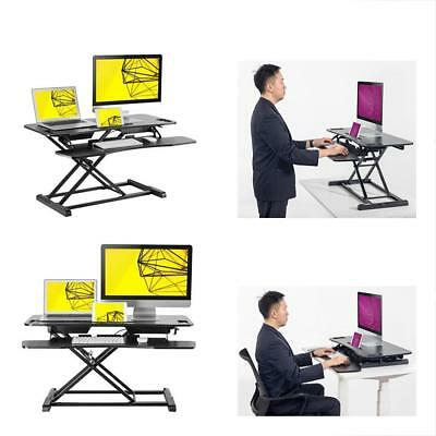 Standing Desk Height Adjustable Sit/ Stand Up Converter. 38x 24 Suitable For By