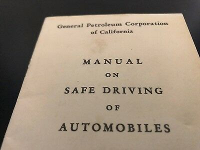 Mobil Gas Vintage Mobil Manual On Safe Driving Of Automobiles Gas Enthusiast