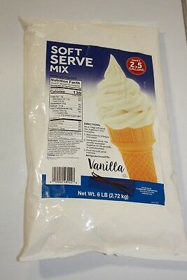 Clabber Girl Vanilla Soft Serve Ice Cream Mix 6 bags x 6 LB Makes 15 Gallon