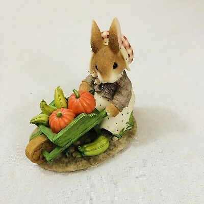 """My Blushing Bunnies """"Autumn Harvests Love and Blessings"""" No. 276332 Enesco 1997"""