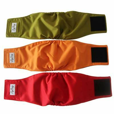 Reusable Belly Bands for Small Dog Diapers Male Washable Puppy Wrap Pack of 3