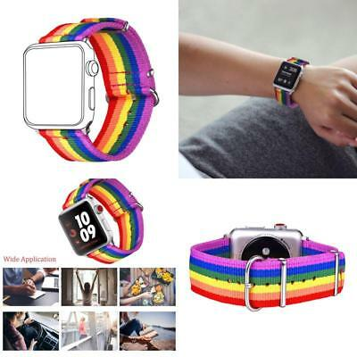 For Apple Watch Band Strap  Pride Color LGBT Rainbow Wrist Brace 42mm