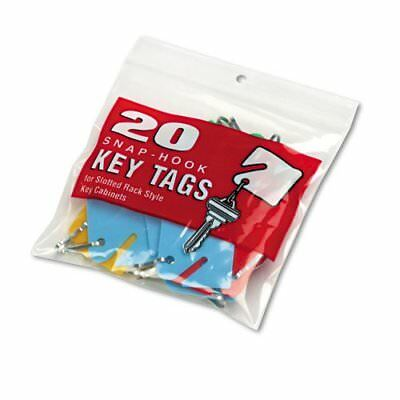MMF Industries : Slotted Rack Key Tags, Plastic, 1 1/2h, Blue/Green/Red/Yellow,
