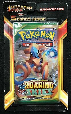 Pokemon TCG XY Roaring Skies Booster Pack +5 cards Brand New Factory Sealed