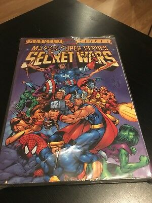 Marvel Super Heros Secret Wars  Signed By Micheal Zeck And John Beatty