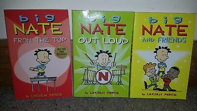 3 x Big Nate Books And Friends Out Loud From The Top Comic Bundle Lincoln Peirce