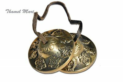 Hand Tuned to Key of Om 2.25 Inch- Tingsha Tibetan Bell (Chimes) Buddhist Lucky