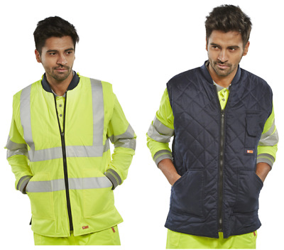 Stylish Hi-Viz Bodywarmers Reversible to Quilted Gillet Conforms to EN ISO 20471
