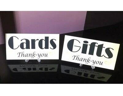 Set Of Wedding Gift Card Plaques Wishes Reception Cake Table Sign