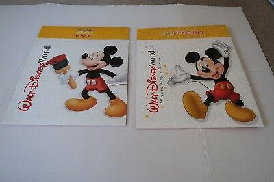 VINTAGE lot of 2 Walt Disney World gift boxes Mickey Mouse Where Magic Lives