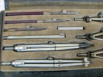 Antique and Vintage KEUFFEL & ESSER CO. MINUSA DRAFTING SET 796 USA and CASE