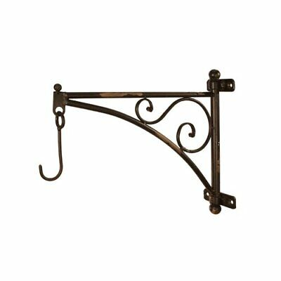 Metal Wall Bracket with Hook, 14-Inch