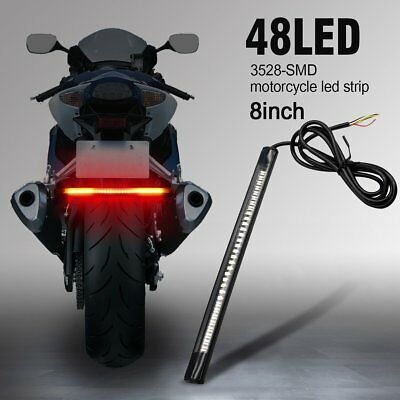 Motorcycle 48SMD Universal LED Brake Tail Light Stop Turn Signal Lamp For Harley