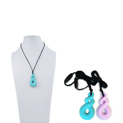 2Pcs Chew Necklace for Oral Motor Autism ADHD Chewing Biting Teething Needs Boys