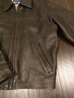 J Crew Mens Leather Jacket Small