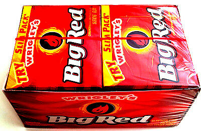 Wrigley's Big Red Cinnamon Chewing Gum - 10 Packs Bulk Lollies